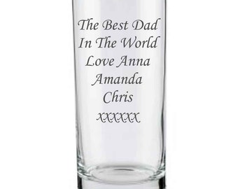 Personalised Engraved Highball Glass, birthday gifts, christmas gifts, by njevgenijs