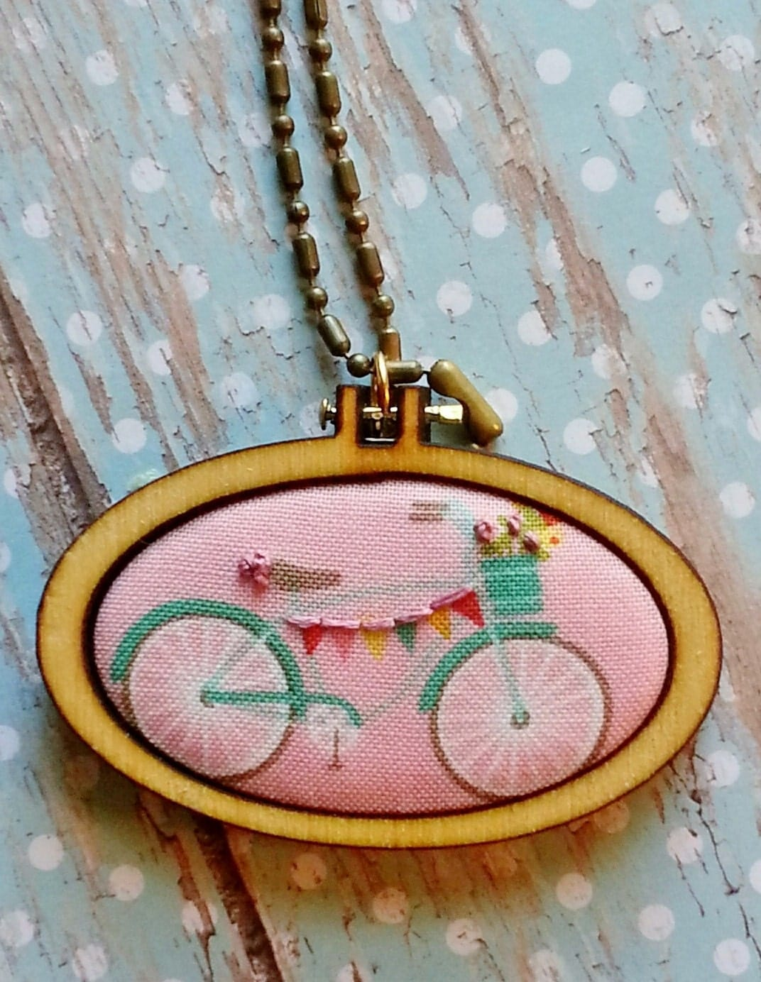 Bicycle mini hoop wide oval pendant bike flowers for Just my style personalized jewelry studio