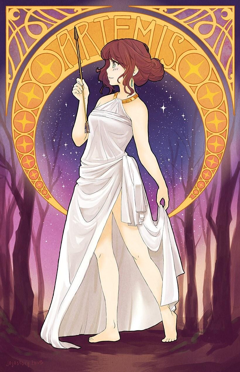 Apollo Greek Mythology Sketch Portrait Shop Lime Orange