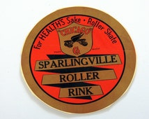 1940s Sparlingville Roller Rink Decal For Health's Sake Roller Skate Chicago Logo