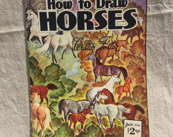 How to Draw Horses by Walter Foster A Simple Way to Draw Horses - Coloring Book How to - Learn to Draw Vintage Retro Antique USA