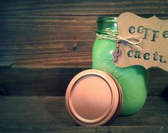 16oz Vintage Green Mason Jar Soy Candle