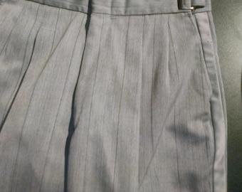 Grey pinstripe tuxedo pants