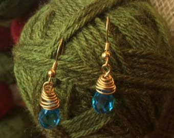 Blue Icicle Earrings