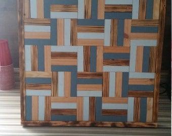 Reclaimed wood modern art