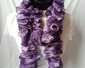 Purple Ruffle Scarf