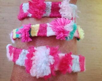 Bracelet Woven wool / Wool woven bracelet