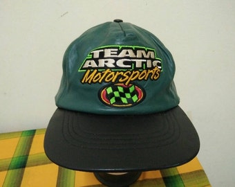 Rare Vintage TEAM ARCTIC MOTORSPORTS Cap Hat Free size fit all