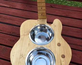 Dog / Cat / Pet /  Guitar shaped  Dish Holder