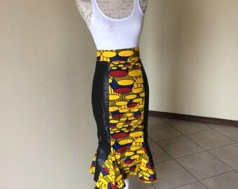 Ankara/ African print /brocade skirt.