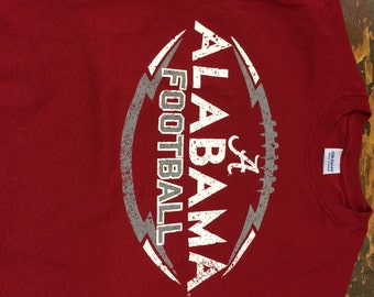 University of Alabama Crimson Tide  - Distressed Alabama Football
