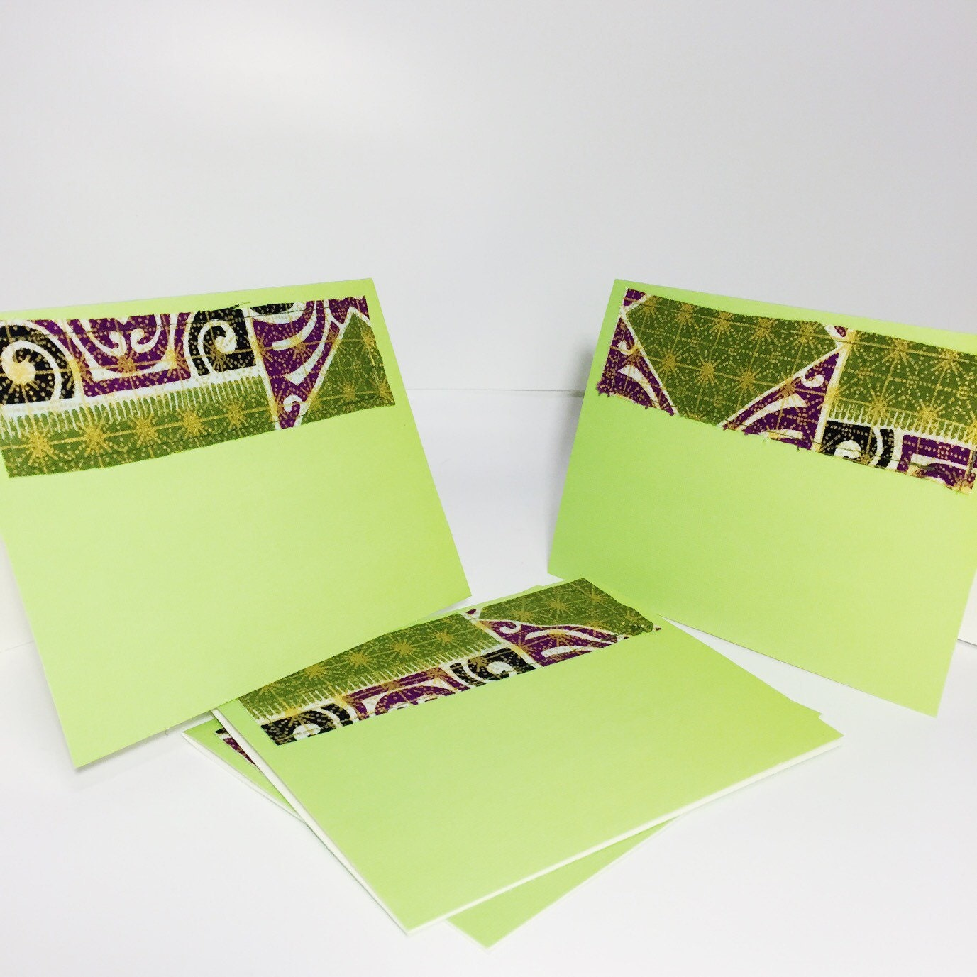 Purple and green blank cards with envelopes gold and green purple and green blank cards with envelopes gold and green greeting cards african print blank greeting cards with envelopes kristyandbryce Images