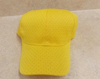 12 Yellow Blank Hats, for embroidery or print