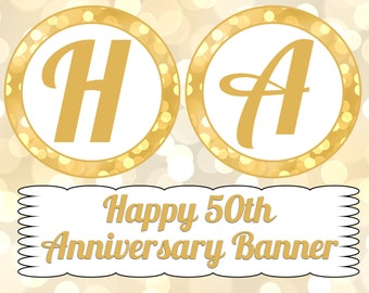 50th Anniversary Banner- INSTANT DOWNLOAD