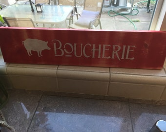 Boucherie Sign, Butcher Sign, Kitchen Sign