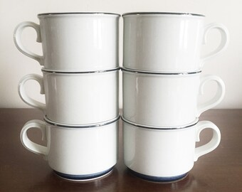 Seabreeze Stackable mugs by Noritake - Set of 6