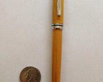Hand Turned Wood Designer Twist Pen, Osage Orange Wood, Chrome