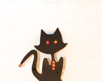 Halloween Cat Sink Decoration