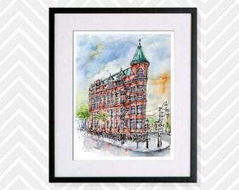 Limited Edition Gooderham Building, Toronto, Art Print, Giclee Print