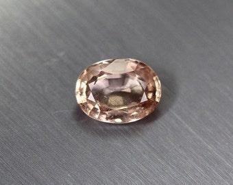 Natural Ceylon Peach Sapphire Oval Cut 6.9mm