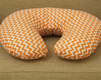 Orange boppy pillow | Maternity pillow and cover | Abstract breast pillow