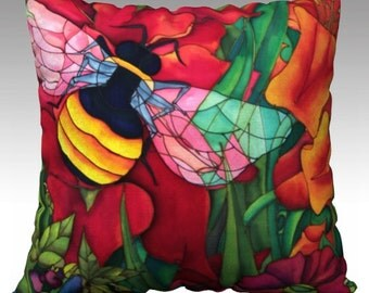 Bumble Bee, Pillow Cover 22x22in.