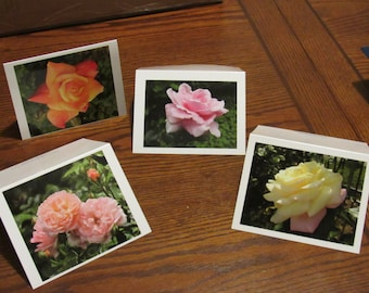 """Blank Note Cards // Rose Note Cards // Stationery // 5.5"""" x 4"""" Blank Note Cards"""