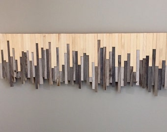 Wood Wall Art - Rustic Meets Modern