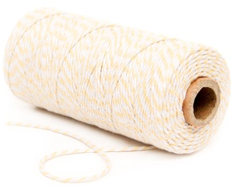 Bakers Twine, 12 Ply Bakers Twine, 100 Yard Spool of Twine, Cream Bakers Twine, Rustic Wedding Favor Twine, Bridal Shower Decor, Baby Shower