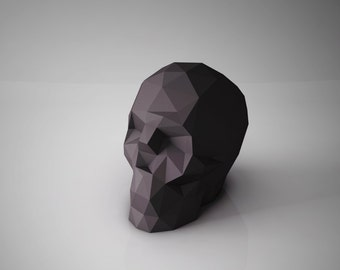 """DIY PAPER SCULPTURES  - """"To Be or Not To Be"""" Paper Skull Template"""