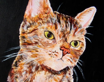 Honey cat, original acrylic painting