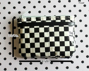 Duct Tape Coin Purse - Checkered