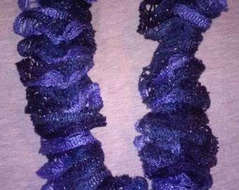 38 inch blue hue scarf