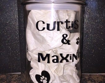 Personalized Dog Biscuit Jar