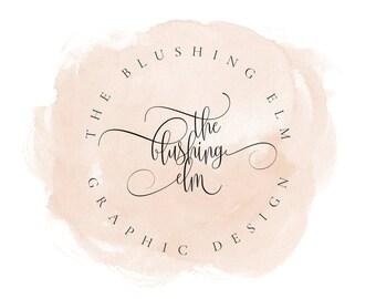 Watercolor Logo, Watermark, Premade Logo, Graphic Design, Business Logo, Logo Design, Photography Logo