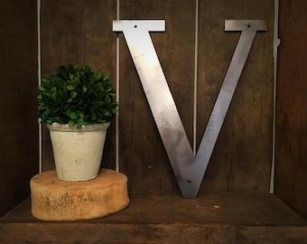 """Metal Letter - """"V"""""""