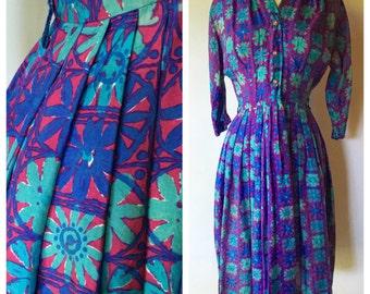 1950s Dress // Vintage Floral Dress