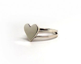 Heart silver ring.Sterling silver ring.Daily ring.Love rings for her.Lovely jewelry.Pin up ring.Wife gift.Girlfriend gifts.Lover's gift