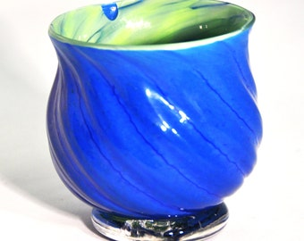 Blue and Green footed Offering Bowl