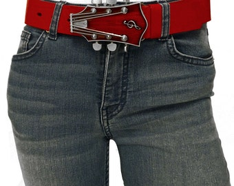 Leather belts in red, SALE!