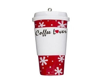 Coffee Lovers Personalized Christmas Ornament