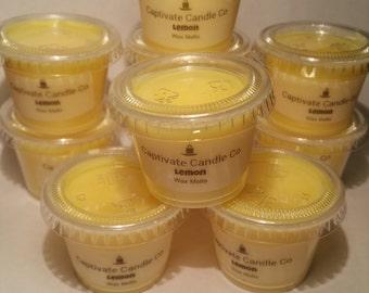 Lemon Wax Melt Tart Scent Shot Candle