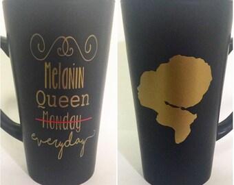 Melanin Queen Everyday Latte Mug