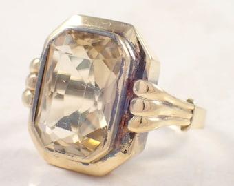 Retro 14k Yellow Gold Citrine Ring