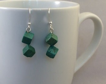 Turquoise Cube Earrings