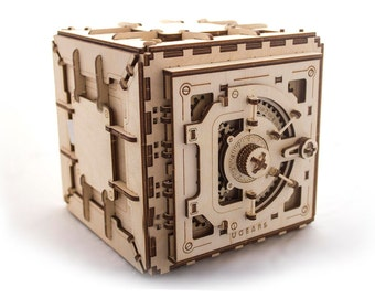 Ugears Wooden 3D Puzzle - Safe (Free Shipping worldwide)