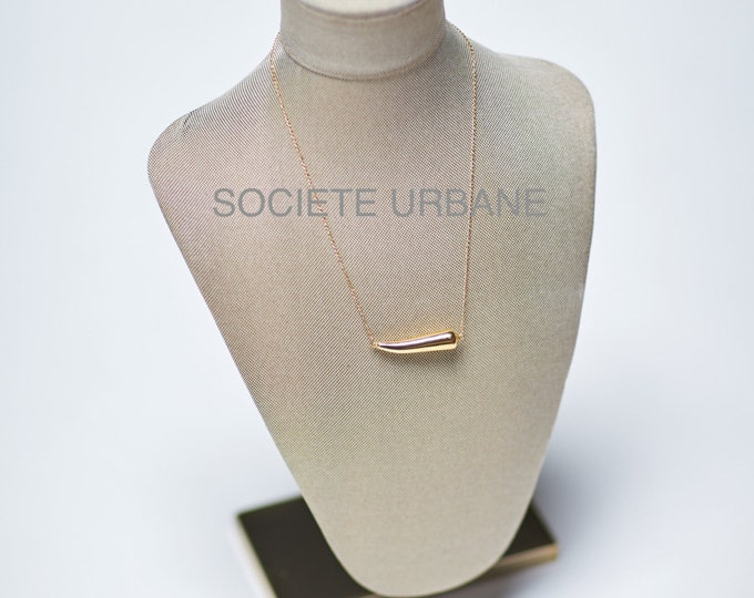 Featured listing image: Gold Horn Pendant- Simple Layering Necklace-Gifts for Her-Unique Necklace-Gold Horn/Boho /Minimalist /Cool/ by Societe Urbane™ SU016