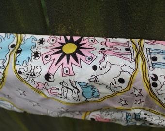 Vintage Pastel Zodiac Sign Silk Scarf