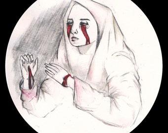 Stigmatas - Pencil drawing PRINT