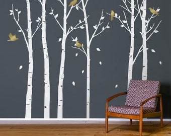 Urban Forest White Wall Sticker